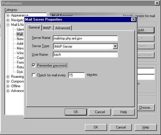 Netscape Messenger Mail Client